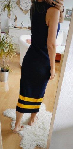 Polo Ralph Lauren Vestido de lana amarillo-azul oscuro