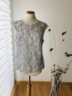 H&M Blouse Shirt black-white