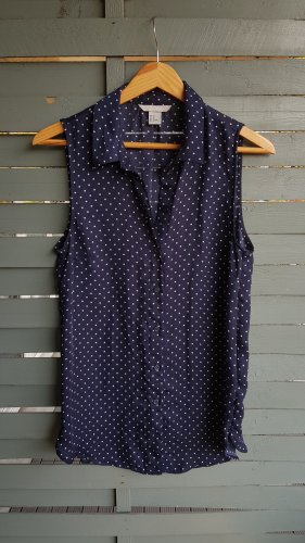 H&M Blouse topje donkerblauw