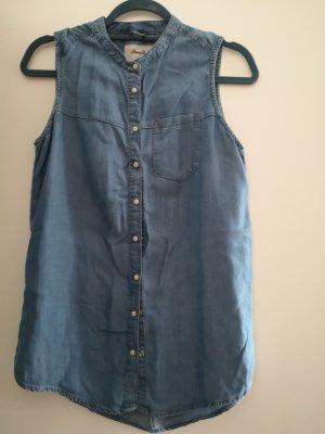Denim Co. Mouwloze blouse korenblauw