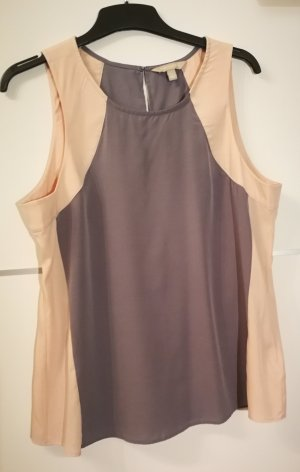 Ärmellose Bluse (grau/rosé)