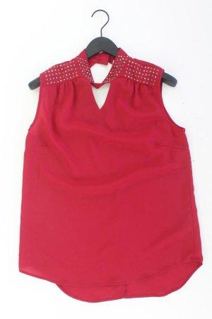 Ärmellose Bluse Größe 42 rot aus Polyester