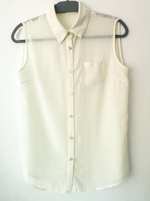Ärmellose Bluse, halbtransparent