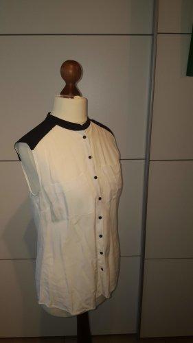 ärmellose Bluse, Hemd Reserved schwarz weiß