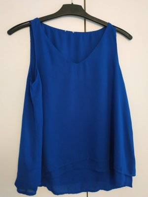ärmellose Bluse in kräftigem Blau, PIMKIE