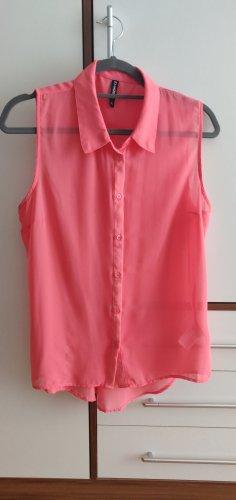 Ärmellose Bluse in rosa in Gr. xl