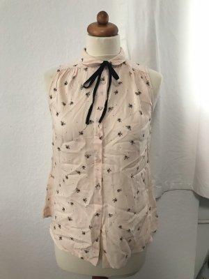 Ärmellose Bluse mit Bienen Print