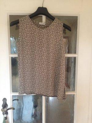 Ärmellose Bluse mit Blümchenmuster von Olsen - Größe 46