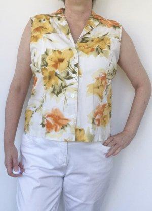 ärmellose Bluse mit Blumenmuster, Gr. 36