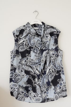 Ärmellose Bluse mit Paislay Muster