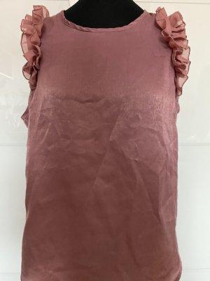Ärmellose Bluse mit Rüschen