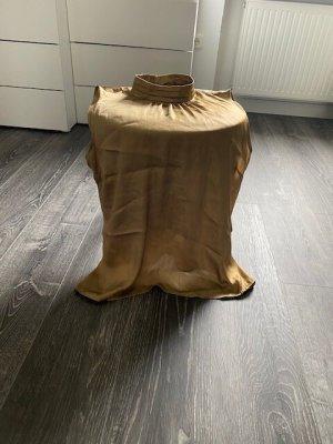 Ärmellose Bluse mit Stehkragen