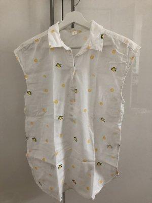 Ärmellose Bluse mit Zitrusprint von H&M