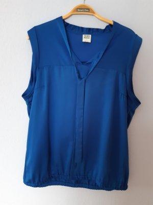 ärmellose Bluse royalblau Größe 42