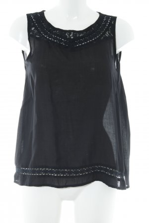 ärmellose Bluse schwarz Casual-Look
