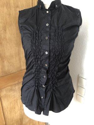 ärmellose Bluse Schwarz Größe 34