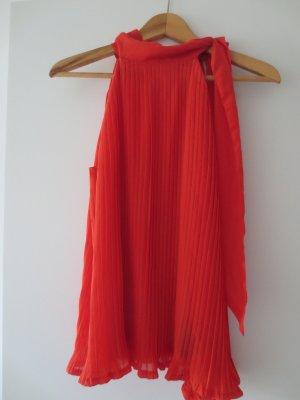 ärmellose Bluse von H&M, Koralle, Gr. 34/XS, extravagant, neu