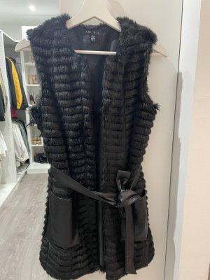 New Yorker Fur vest black