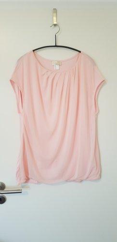 Ärmellose geraffte Bluse in rosa von Heine