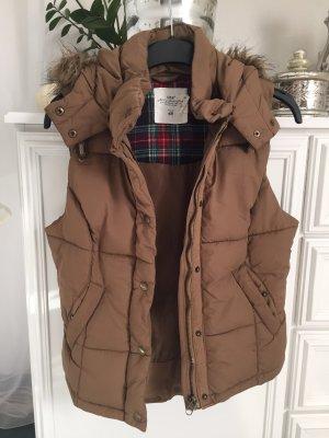 Ärmellose Jacke / braun-Khaki Ton / Gr. S / H&M