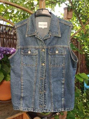 Gina Laura Gilet en jean bleu
