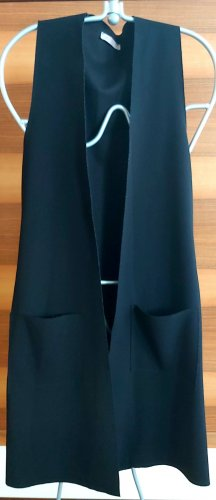 SusyMix Long Knitted Vest black polyester