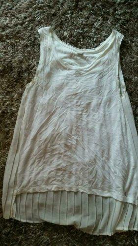 Ärmellose Long Bluse von s.Oliver Plissèe Weiß Gr.34