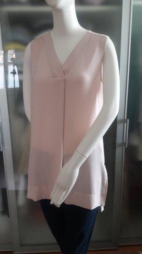 René Lezard Blusa senza maniche rosa pallido