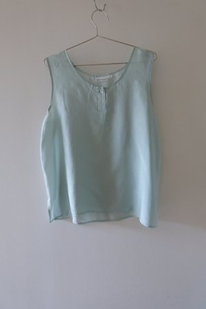 Vintage Silk Blouse mint silk