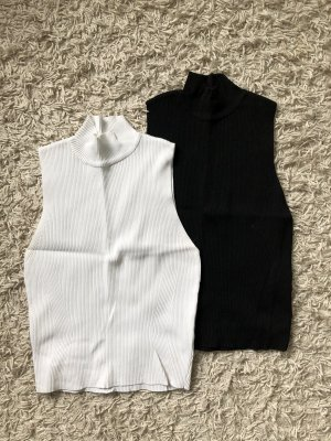 Zara Neckholder Top black-white