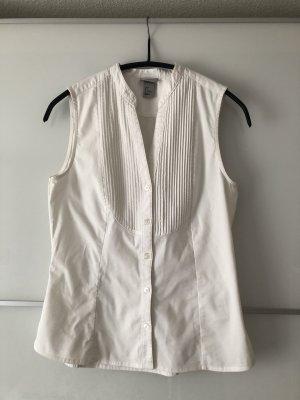 Ärmellose weiße Bluse von H&M