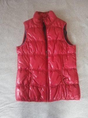 Fleece Vest dark red