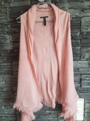 Comma Chaleco con flecos rosa