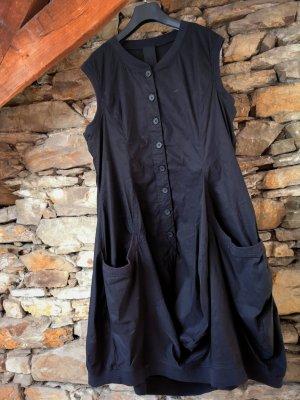 Black Label Rundholz Robe ballon noir coton