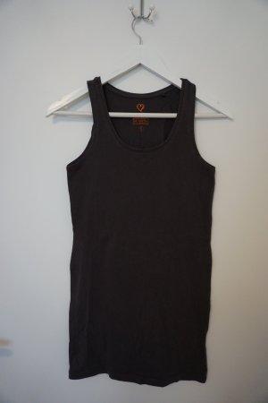 ärmelloses Basic T-Shirt grau