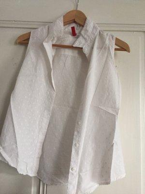 H&M Short Sleeve Shirt white-light grey
