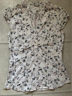 H&M Chemise à manches courtes blanc-gris