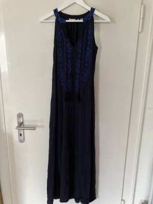 H&M L.O.G.G. Hippie Dress dark blue-steel blue