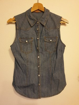 Forever 21 Denim Shirt blue cotton
