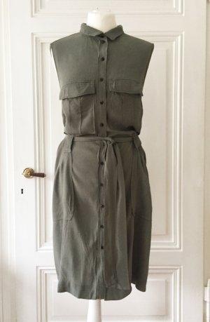 H&M Vestido de camuflaje multicolor Viscosa