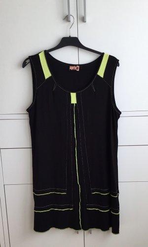Aprico Sukienka z dżerseju czarny-żółty neonowy