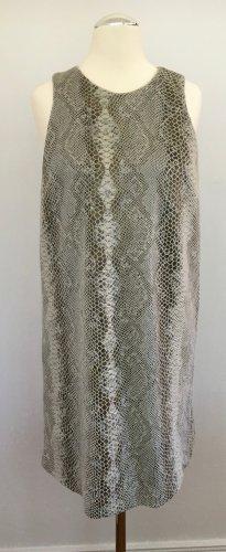 Ärmelloses Kleid in A-Linie mit Reptilprint