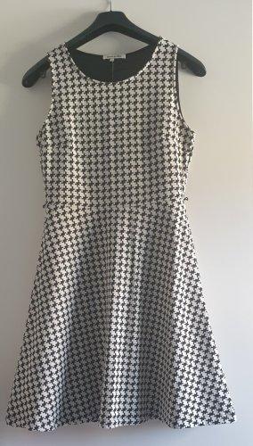 anna & ella Midi-jurk wit-zwart