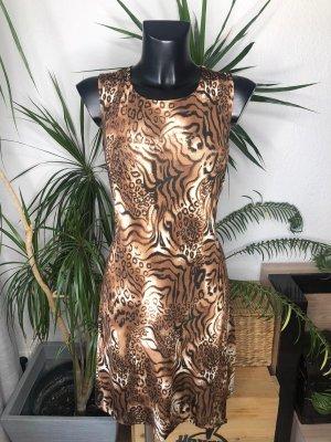 Ärmelloses Kleid mit Tigermuster