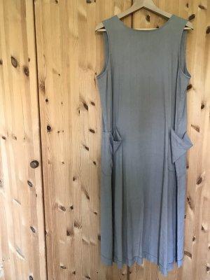 Stefanel Vestido largo marrón grisáceo Lino