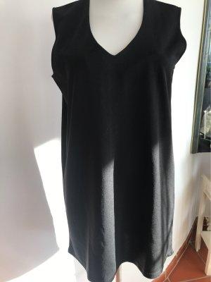 0039 Italy Długi sweter bez rękawów czarny