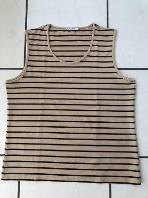 Select T-shirt rayé noir-beige