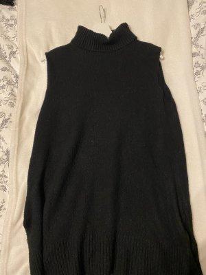 Ärmelloses Rollkragenpullover-Kleid