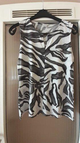Calvin Klein Lange top wit-zwart