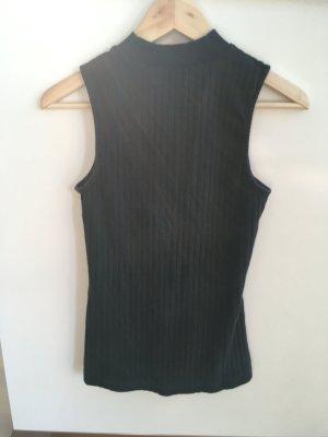 Kiomi Ribbed Shirt black cotton